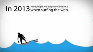 Very soon, more people will use phones than PCs to surf web