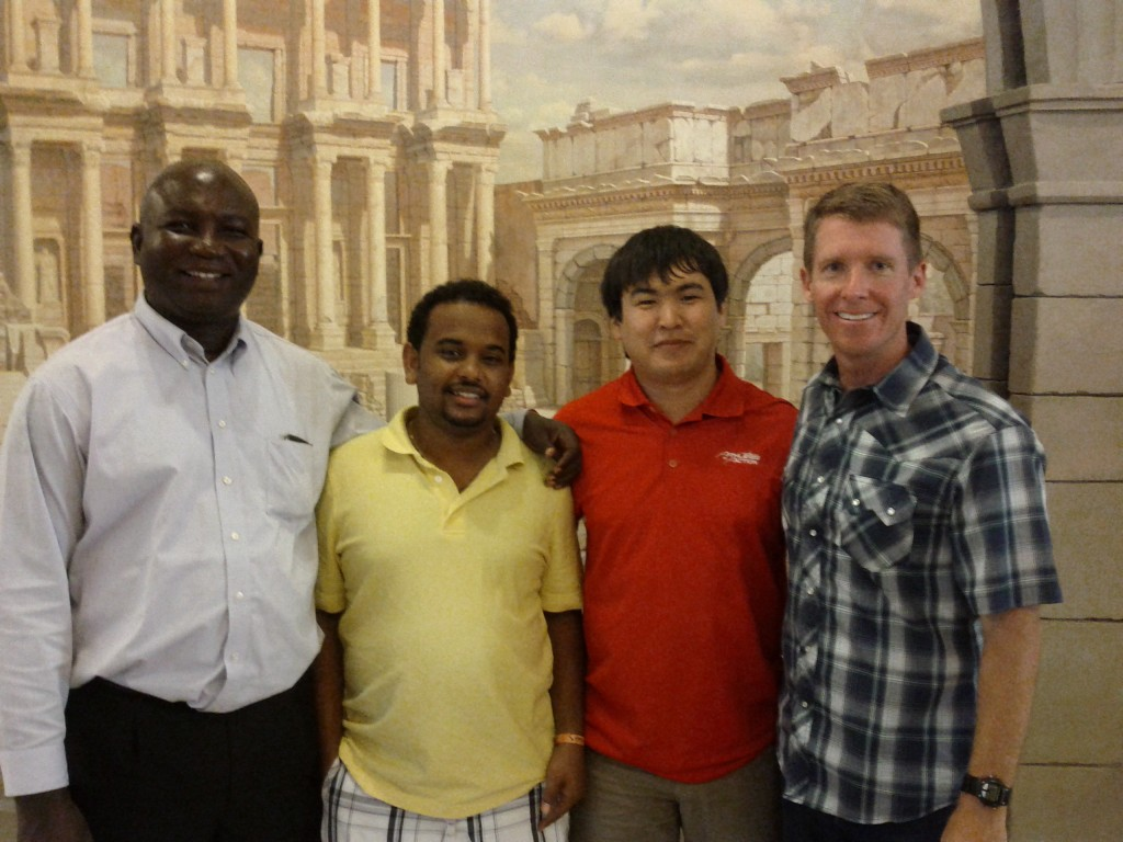 LtoR: Oumar from Mali, Miheret from Ethiopia, A.K. from Central Asia and David