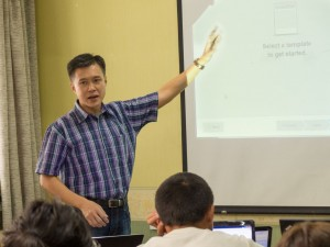 Richard (staff from Singapore) led the training