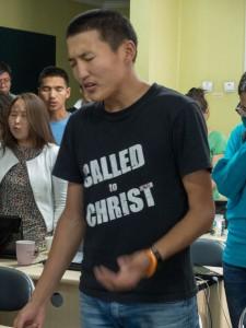 Worshipping in Mongolia